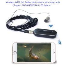 Подводная Беспроводная рыболовная видеокамера wifi APP box(8 IRS, 10 метров длинный кабель, поддержка iphone/Android phone