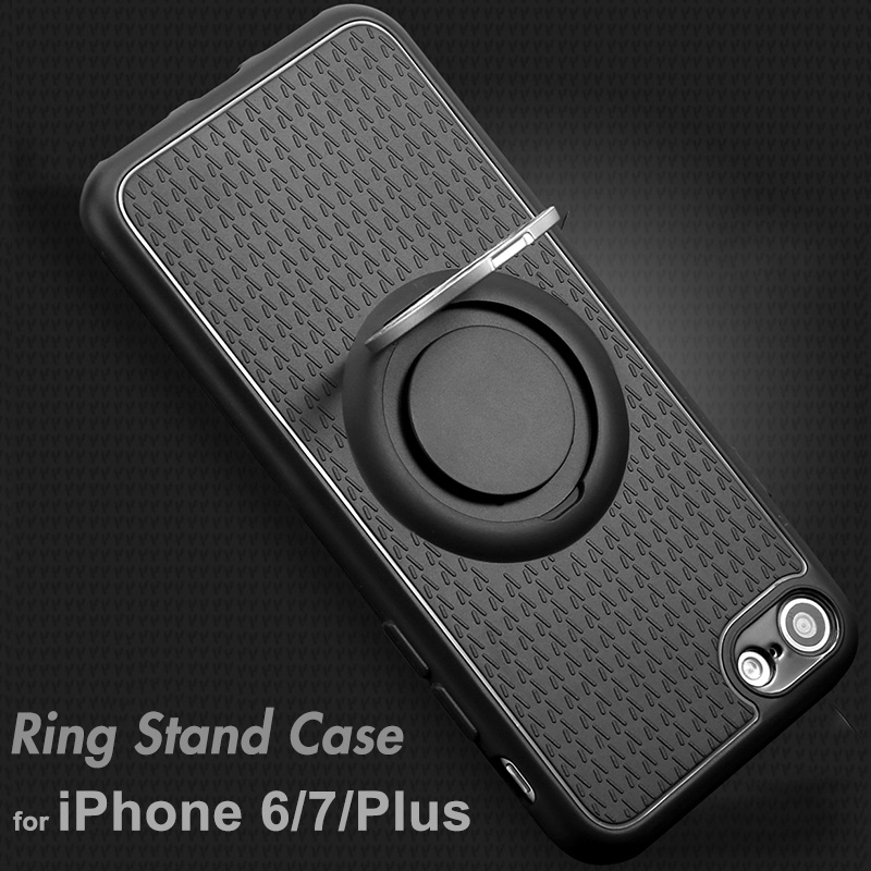 Multifuctional 3 in 1 <font><b>Magnetic</b></font> Car <font><b>Holder</b></font> Suction Hook <font><b>Phone</b></font> Cases For iphone 6 6s 7 8 Plus <font><b>Ring</b></font> Stand Anti Knock Shock Covers