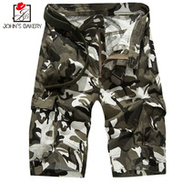 2017 Mens Shorts Casual Bermuda Brand Compression Male Cargo Shorts Camouflage Pockets Men Linen Fashion Men