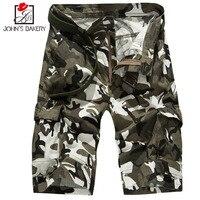 2017 Mens Shorts Casual Bermuda Brand Compression Male Cargo Shorts Camouflage Pockets Men Linen Fashion Men