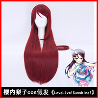 HSIU NEW High Quality Riko Sakurauchi Cosplay Wig Love Live Sunshine Costume Play Wigs Halloween Costumes
