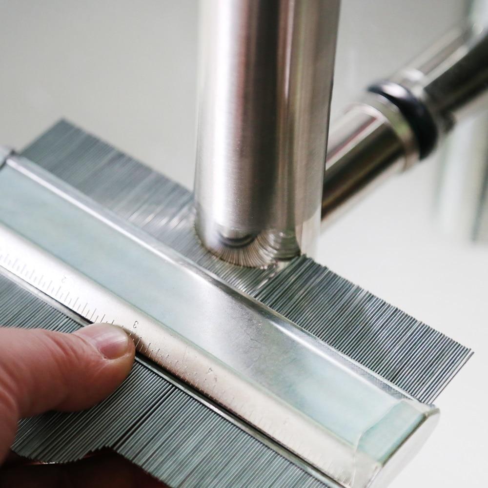 150mm Carbon Stahl Profil Kontur Gauge Tiefe Dekorieren Vorlage Fliesen Stahl Metall Fliesen Sockel Laminat Profil Holz Form