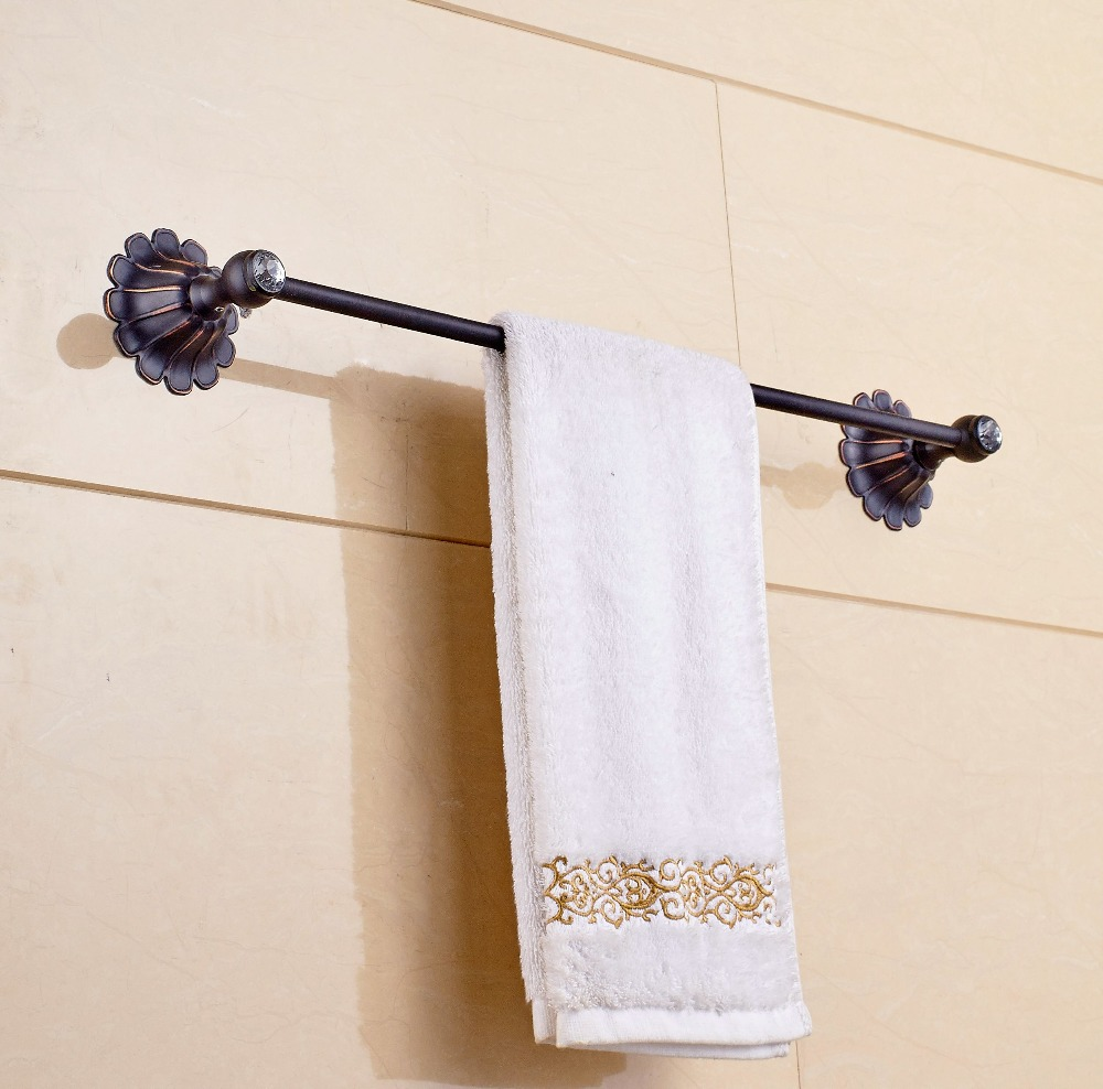 Wall Mounted Single Bar Oil Rubbed Bronze Towel Rack Bath Towel Hanger allen roth brinkley handsome oil rubbed bronze metal toothbrush holder