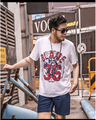 Hombre Camiseta 2016 de la moda de manga corta t-shirt homme hombre 2xl más el tamaño 6xl 7xl camiseta