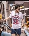 Man Tshirt 2016 fashion short sleeve t-shirt homme man plus size 7xl 6xl 2xl t shirt