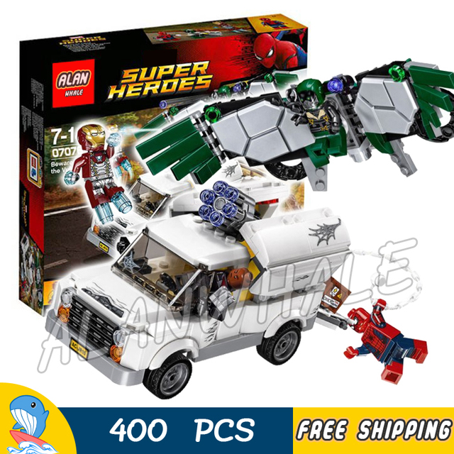 400pcs Super Heroes Spider Man Movie Beware the Vulture Iron Man ...