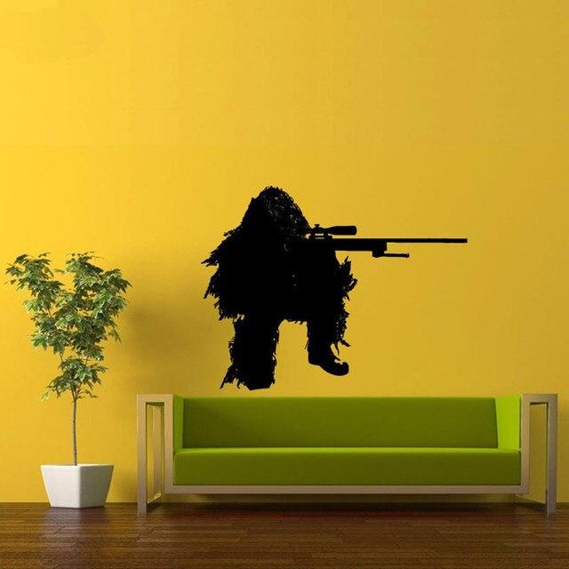 Art Sniper Solder Vinyl Wall Sticker Army Fans Living Room Art ...