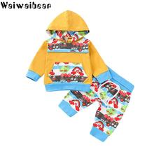 Waiwaibear Spring Baby Girls Boys Sets Cotton Long-sleeved Tops+Pants 2pcs Kids Clothing Set TY9
