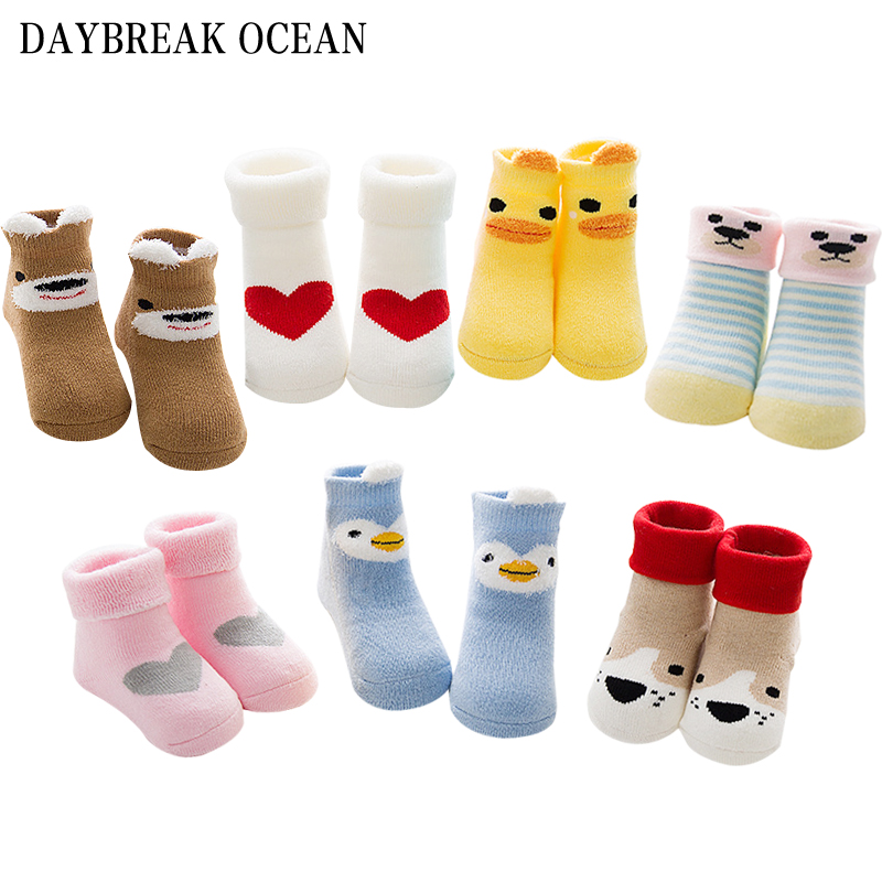 2017 New Styles Fashion Newborns Baby 0-3 Year Soft Cotton Thicken Warm Terry Socks For Toddler Autumn Winter Kids Infant Socks
