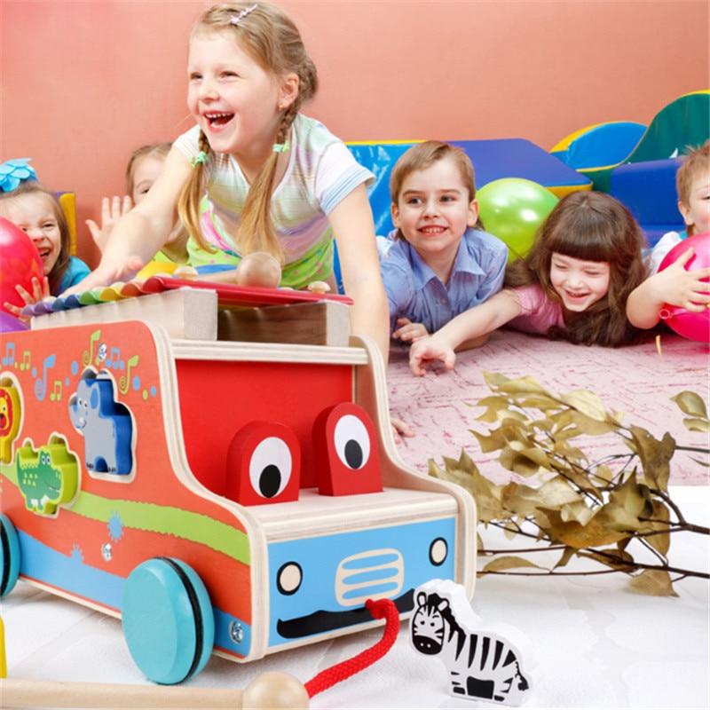 Wooden Music Sound Knocks Beat Balls Montessori Educational Toy For Children Puzzle Wooden Educational Toys Brain Development