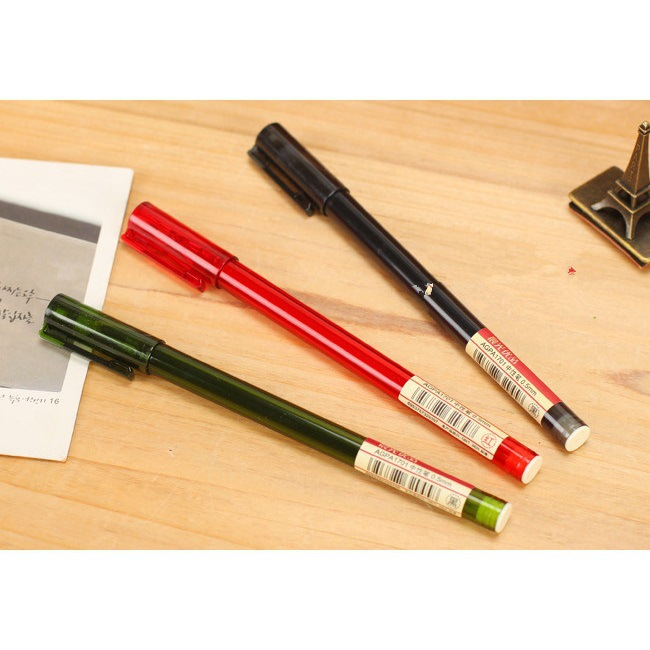 The whole 0.5mm needle pen black ink pen light office products Blue / black/red 12pcs/set цены онлайн