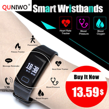 F1 Good Band Blood Oxygen Blood Strain Watches Health Sport Bracelet Coronary heart Price Monitor Name/SMS Reminder for xiaomi iphone