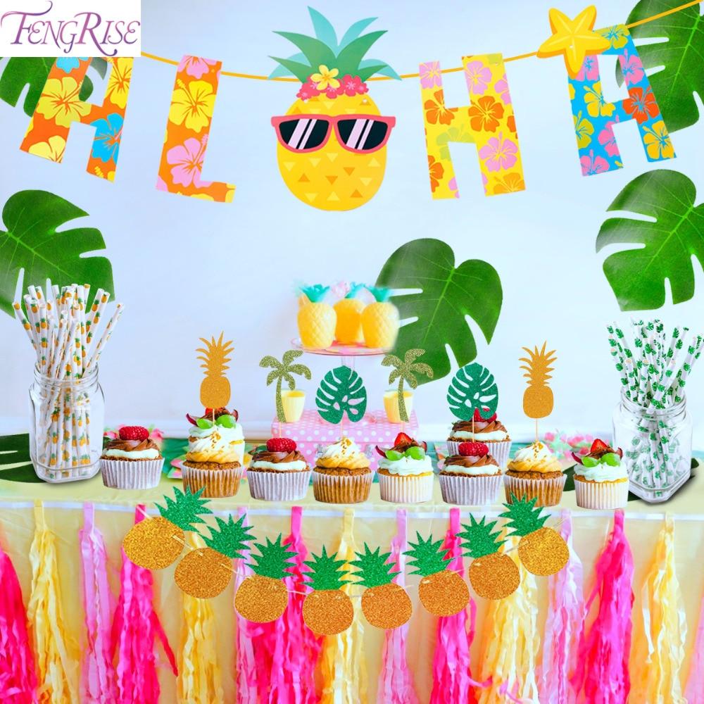 FENGRISE Aloha Hawaiian Party Decorations Table Theme ...