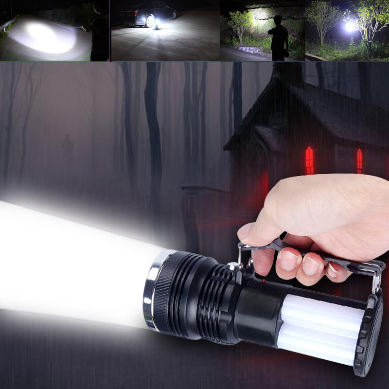 Solar Power Rechargeable Battery LED Flashlight Outdoor Camping Tent Light Lantern Lamp CLH@8 nieneng solar power light rechargeable portable led outdoor battery lamps flashlight camping lantern hanging torch icd90090
