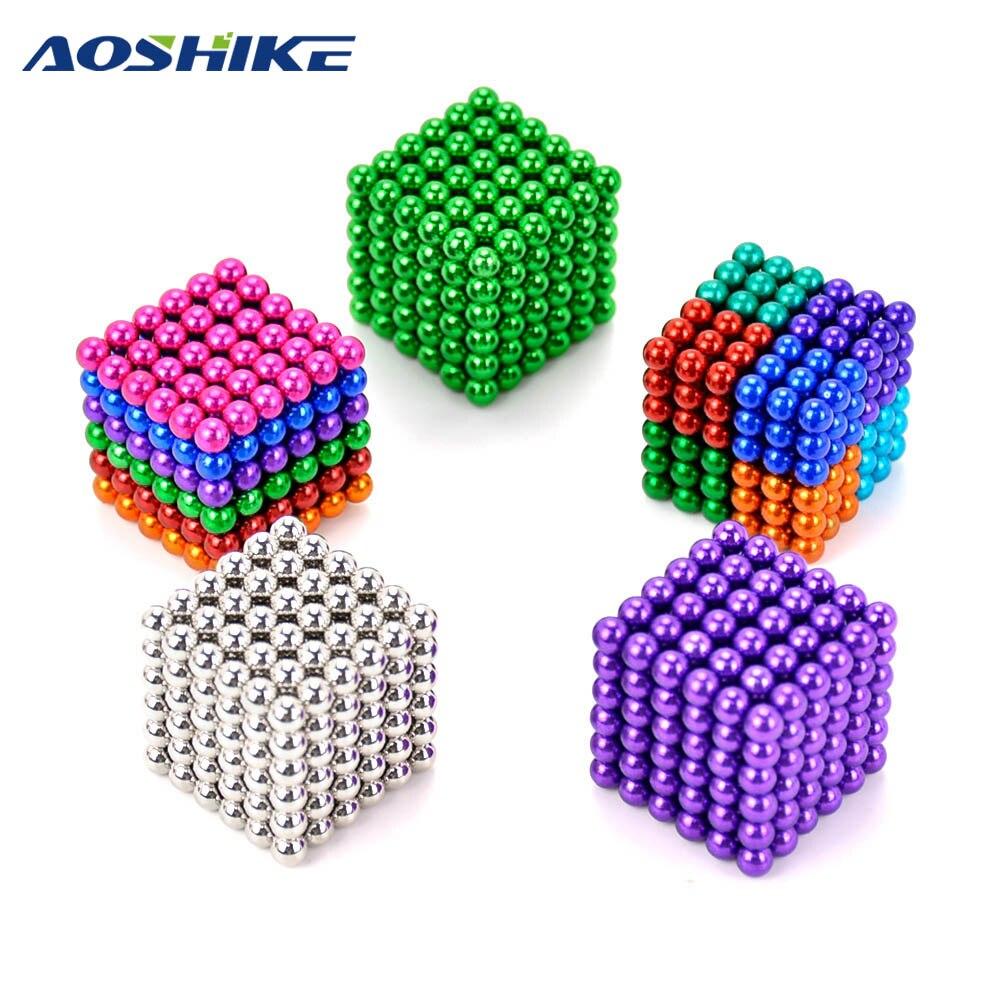 Sfere del magnete 5mm 216 pz Magia Forte NdFeB colorato buck palla Creativo magnete al neodimio magneti imanes Fun giocattoli Per adulti Bambini