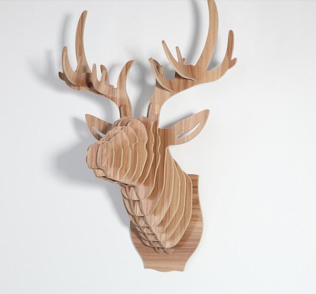 Deer Head Wall Art aliexpress : buy home decoration deer head,wall hanging,wall