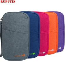 RUPUTIN Men's Travel Organizer Passport Holder Card Package Credit Card Women's Wallet Document Package Multi Pockets Card Pack