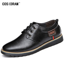2016 Genuine Leather Casual Shoes Classical Leisure Oxfords Men Shoes Spring Autumn Fashion Gentleman Footwear Male RME-201