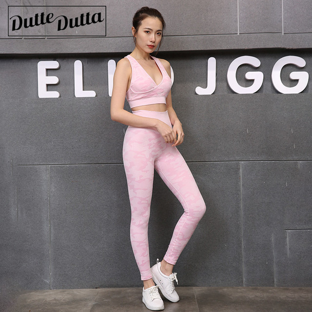 2 Piece Workout Yoga Sets  For Women Fitness
