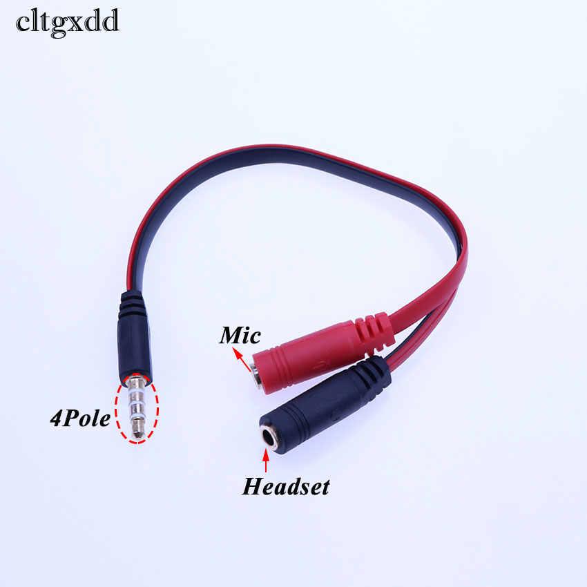 Cltgxdd Jack 3.5mm AUX 1 do 2 kabel przedłużający męski na dwa żeńskie kabel Audio AUX Y Splitter przewód linii