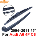 QEEPEI Rear Wiper Blade and Arm For Audi A6 4F C6 2004-2011 15'' 5 door Avant High Quality Iso9000 Natural Rubber RAD10-3B