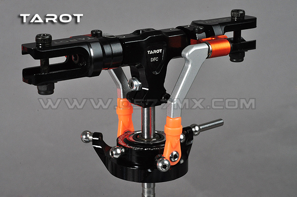 Ormino TAROT 450 DFC Main Rotor Head Set Black TL48025-01 silvery TL48025-02 Orange TL48025-03 dfc seesaw se 01