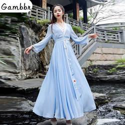 Традиционная китайская одежда классический женский взрослый национальный костюм кунг-фу косплей костюм феи Hanfu древнее платье