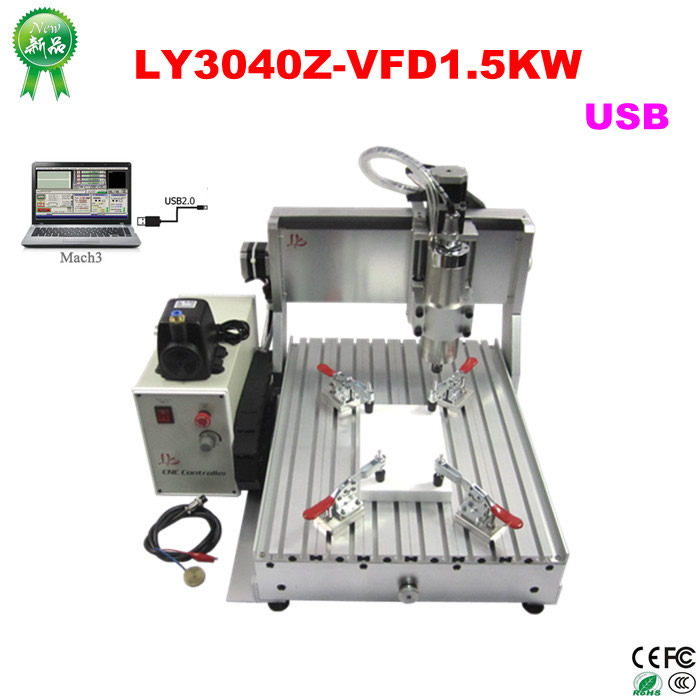 EUR free tax CNC Router wood lathe Machine CNC 3040Z-VFD1.5KW USB 3axis with ball screw for woodworking cnc 5axis a aixs rotary axis t chuck type for cnc router cnc milling machine best quality