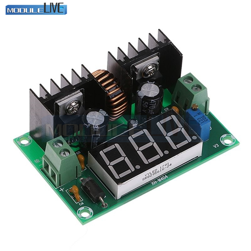 XL4016 LM317 LED Digital Voltmeter Voltage Regulator Meter XL4016E1 DC-DC Buck Step Down Module 200W 8A PWM 4-40V to 1.25-36V lm317 lm317l lm317lz to 92