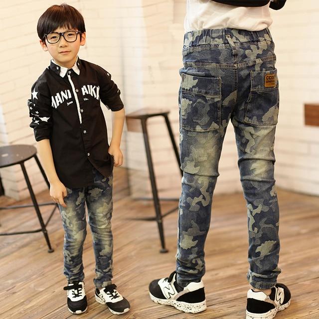 Fashion boys jeans trousers casual boys jeans pants denim boys pants  trousers for boys jeans autumn kids regular pants