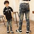 Muchachos de la manera pantalones vaqueros ocasionales de los muchachos pantalones vaqueros de mezclilla pantalones de los muchachos pantalones vaqueros de los muchachos del otoño niños pantalones regulares