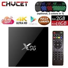 D'origine X96 2G 16G Android 6.0 TV Box Amlogic S905X Quad Core Tv boîte WIFI HDMI 2.0 4 K 3D Media Player Smart tv box Set top boîte