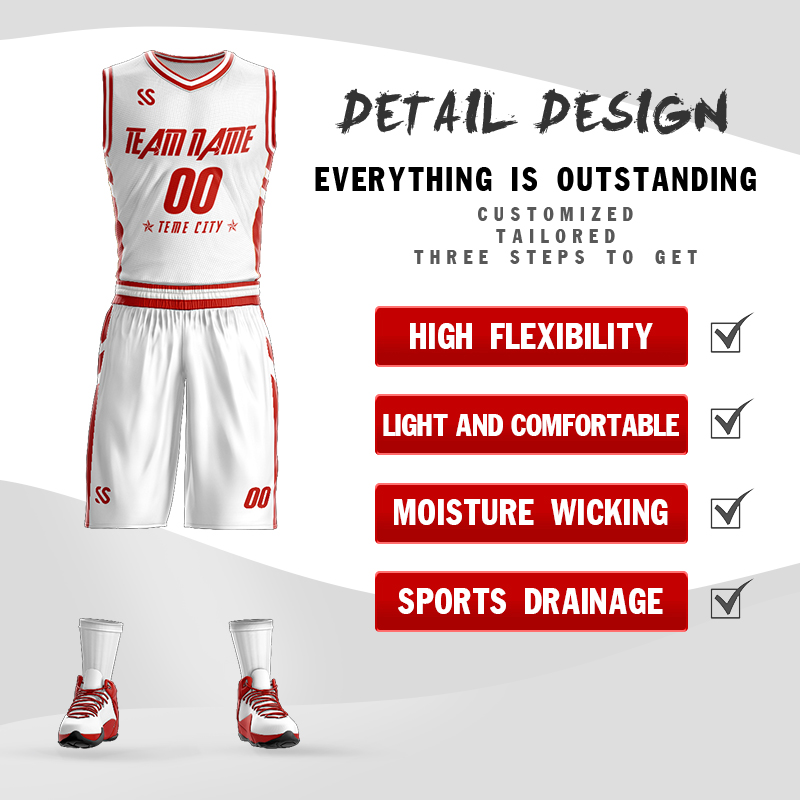 New Mens Basketball Jerseys Set Uniforms Youth Sports Kit Clothing Custom Basketball Shirts Jersey Any Name Any Number in Basketball Set from Sports Entertainment