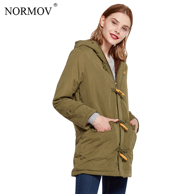 NORMOV  2018 Warm velvet Cotton Coat Plus Size Winter Jacket Women Long Jacket Winter Woman Coats Feminina Outwear 9 Color