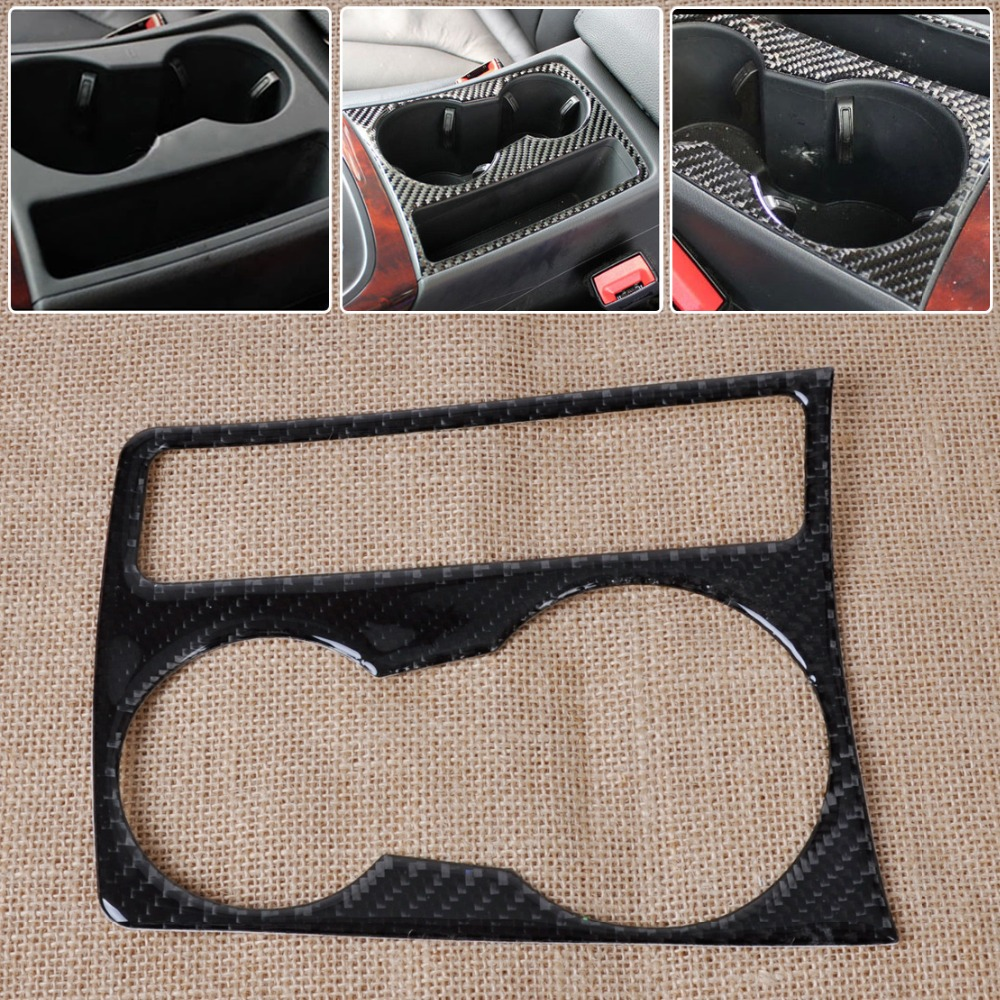 DWCX Car Interior Water Cup Holder Panel Carbon Fiber Decoration Sticker Molding for Audi A4 B8 A5 2009 - 2012 2013 2014 2015 image