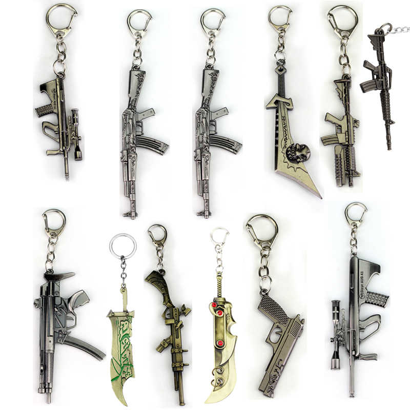 Riot Anime Crossfire Cross Fire Weapon Gun Model Keychain Weapons Counter Strike Global Offensive Csgo Cs Go Ak 47 Keyring