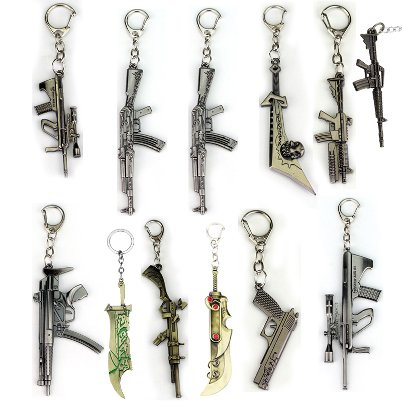 Riot Anime Crossfire Cross Fire Weapon Gun Model <font><b>Keychain</b></font> Weapons Counter Strike Global Offensive Csgo <font><b>Cs</b></font> Go Ak 47 Keyring image