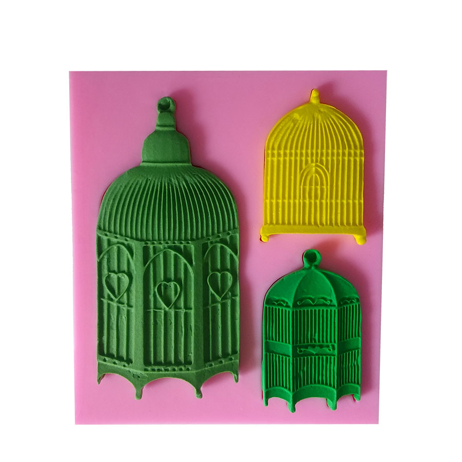 Cake Molds Popular Brand 1 Pc/set The Birdcage Silicone Mold Fimo Creative Fondant Cake Decorating Chocolate Gum Paste Mould Baking Tools Kitchen,dining & Bar