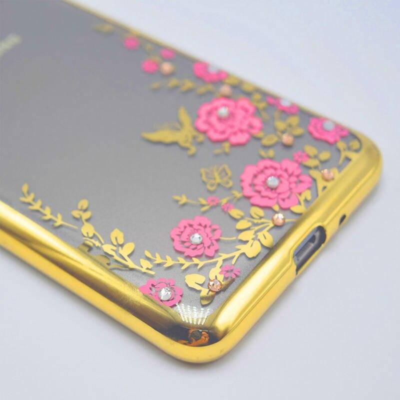 Lyxig blomma diamantplätering stötfodral fodral fodral för Samsung - Reservdelar och tillbehör för mobiltelefoner - Foto 3