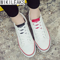 Wikileaks Hot Sale 2016 New Fashion Women Casual Walking Canvas Shoes Woman Lace-Up White Cheap Student Shoes Zapatos Mujer