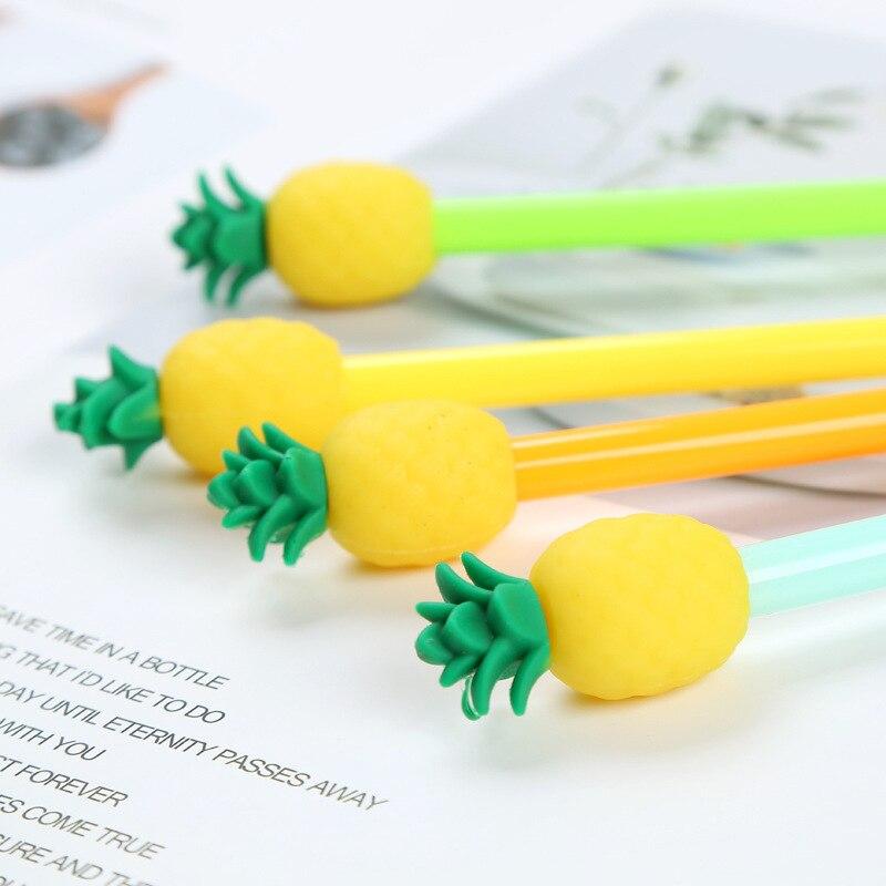 abacaxi gel canetas para estudantes da escola