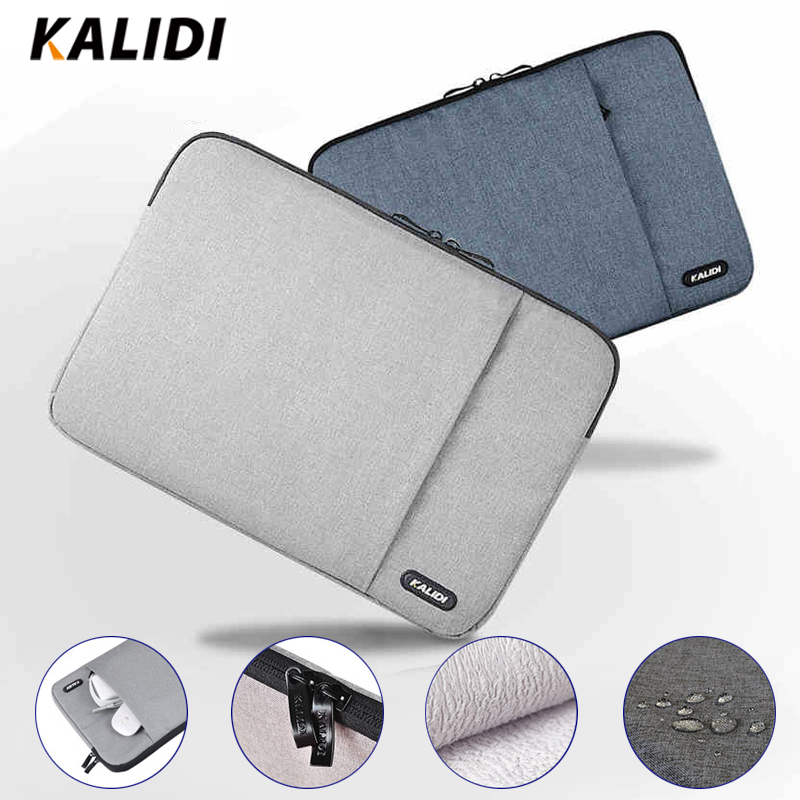 KALIDI <font><b>Laptop</b></font> Sleeve Bag Waterproof Notebook <font><b>Case</b></font> For Macbook Air 11 13 Pro 13 15 Dell <font><b>Asus</b></font> HP Acer Sleeve 13.3 14 <font><b>15.6</b></font> Inch image