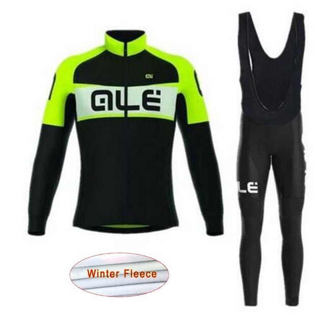 ALE Pro Team 2018 Winter thermal fleece Cycling Jersey Bib Pants MTB  bicycle wear set ropa maillot ciclismo Sportwear China L5 86ccd96b2