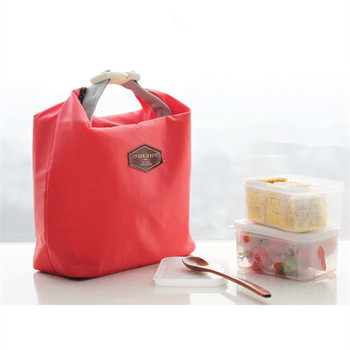 цена на Casual Red Oxford Cloth Bento Thermal Insulated Cooler Lunch Pouch Bag Dining Travel Picnic Bag Container