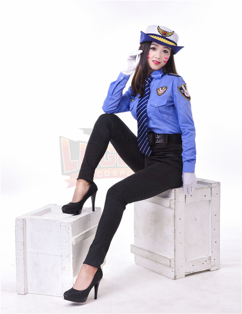 police costume dva costume 2017 new skin officer Dva cosplay d.va police costume police uniform full set adult costume 1