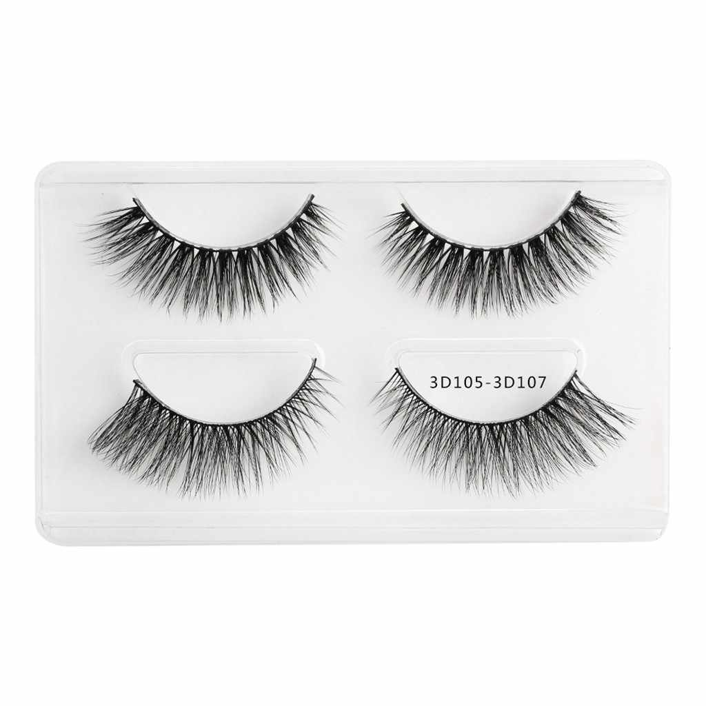 Two Pairs Of 3D Mink Fur With Soft Long Curly And Warped Many Layer Eyelashes magnetic eyelashes natural maquiagem #3