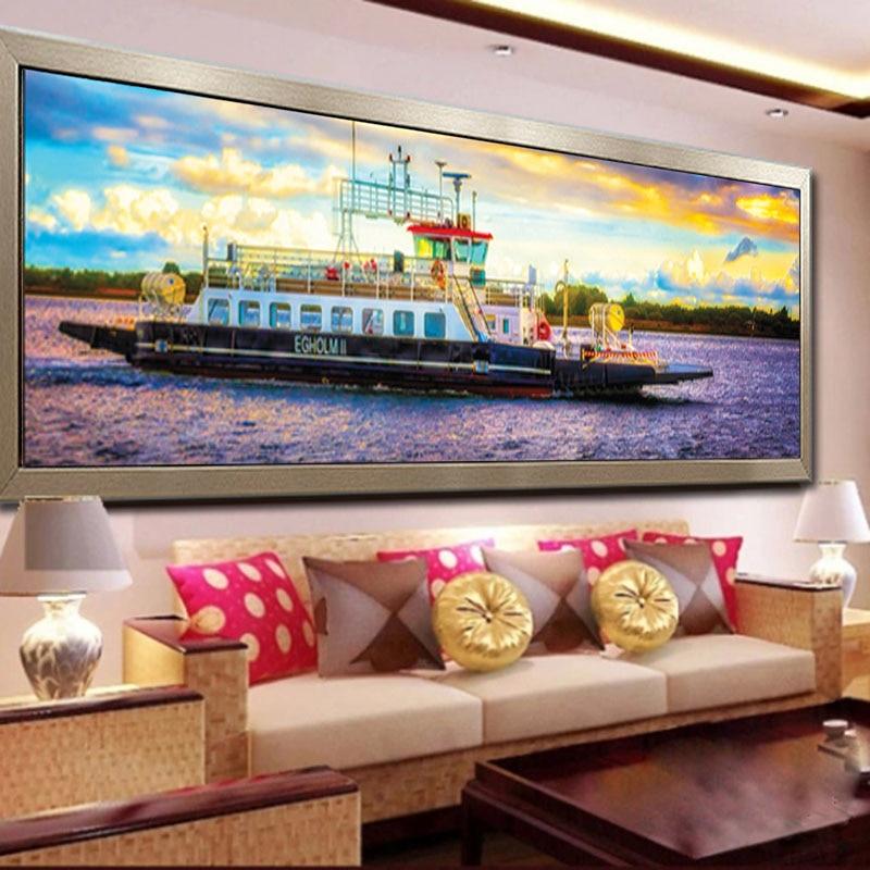 ②Lujo cruceros mar paisaje DIY 5d DIY Cubo de Rubik redondo Cuadros ...