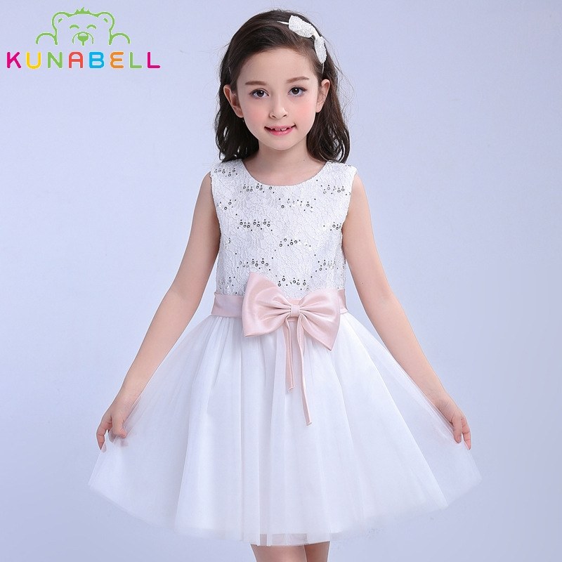 Little Girl Brand Dresses Wedding Pageant White First Holy Lace Communion Bridesmaid Toddler Junior Child Tutu Princess Dress 14 ada staff 4