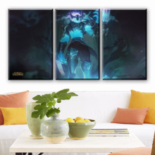 Home Decoration Living Room 3 Piece League Of Zed Jurado de Morte Painting Canvas HD Printed Game Poster Wall Art Modular Pictur