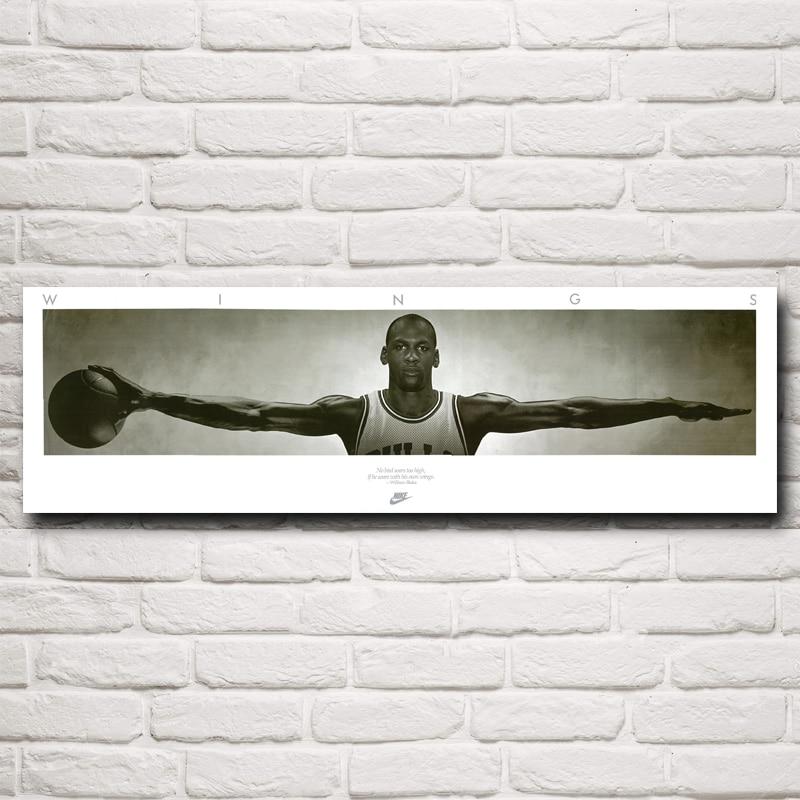 FOOCAME Michael Jordan Kosárlabda Csillagművészet Selyem Plakátok és nyomatok Festés Otthoni dekoráció Fal képek Nappali szoba 12x40 hüvelyk